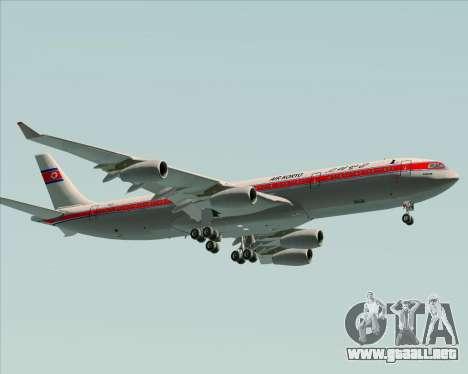 Airbus A340-300 Air Koryo para GTA San Andreas left