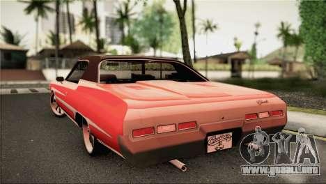 Chevrolet Impala Lowrider para GTA San Andreas left