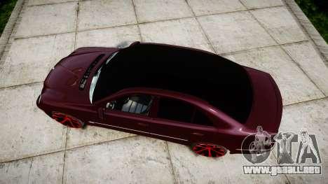 Mercedes-Benz W211 E55 AMG para GTA 4 visión correcta