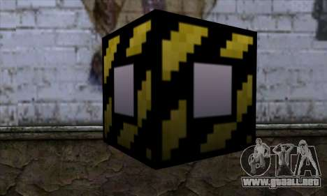 Bloque (Minecraft) v4 para GTA San Andreas segunda pantalla