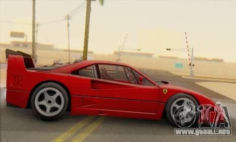 Ferrari F40 Competizione Black Revel para GTA San Andreas left