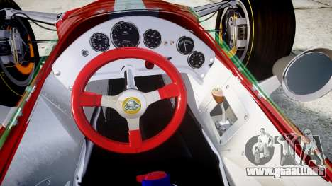 Lotus 49 1967 red para GTA 4 vista hacia atrás