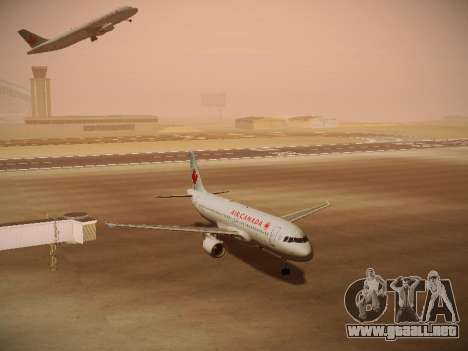 Airbus A320-214 Air Canada para GTA San Andreas left