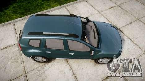 Dacia Duster 2013 para GTA 4 visión correcta
