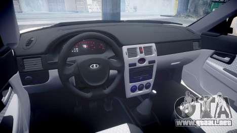 VAZ-2170 Priora de estampado para GTA 4 vista interior