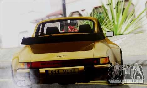Porche 911 Turbo 1982 para GTA San Andreas vista posterior izquierda