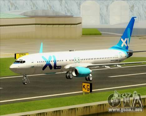 Boeing 737-800 XL Airways para la vista superior GTA San Andreas