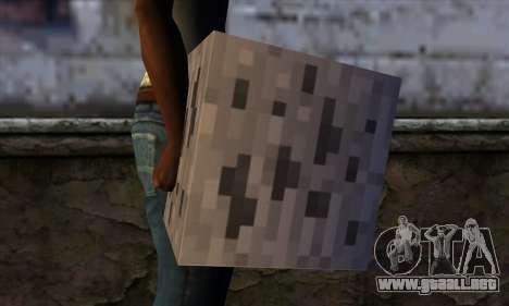 Bloque (Minecraft) v3 para GTA San Andreas tercera pantalla