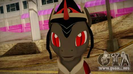 King Sombra from My Little Pony para GTA San Andreas tercera pantalla