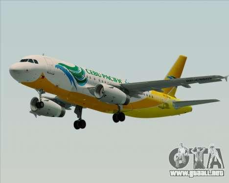 Airbus A319-100 Cebu Pacific Air para la visión correcta GTA San Andreas