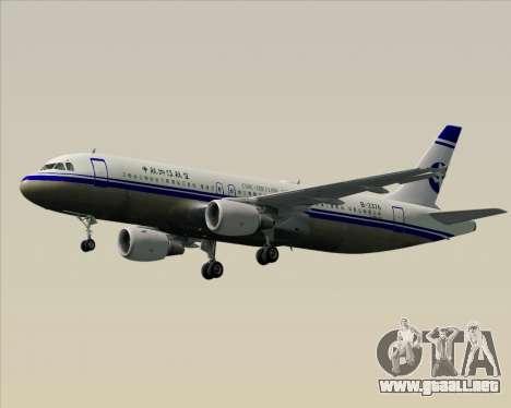 Airbus A320-200 CNAC-Zhejiang Airlines para vista inferior GTA San Andreas