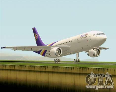 Airbus A300-600 Thai Airways International para GTA San Andreas vista hacia atrás