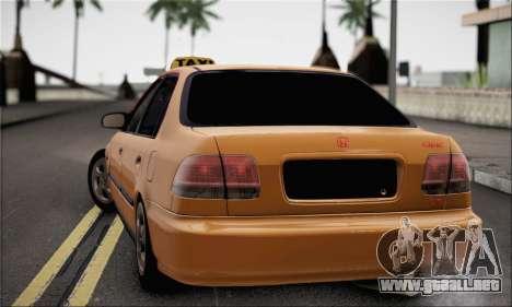 Honda Civic Fake Taxi para GTA San Andreas left