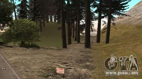 Трасса Offroad v1.1 por Rappar313 para GTA San Andreas segunda pantalla