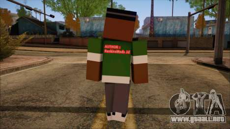 Bigsmoke Minecraft Skin para GTA San Andreas segunda pantalla