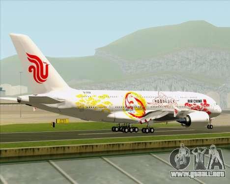 Airbus A380-800 Air China para la visión correcta GTA San Andreas