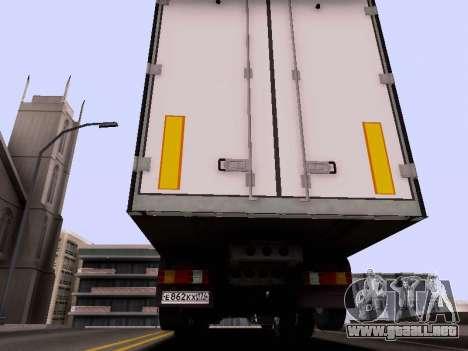 Mercedes-Benz 500 Magnit para GTA San Andreas vista hacia atrás