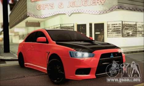 Mitsubishi Lancer Evo X para GTA San Andreas
