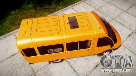 GAZ-3221 Gacela para GTA 4 vista hacia atrás