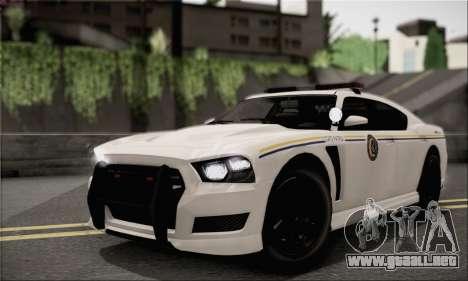 Bravado Buffalo S Police Edition (IVF) para visión interna GTA San Andreas