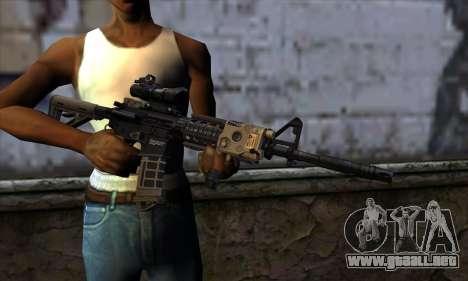 AR15 bushmaster para GTA San Andreas tercera pantalla
