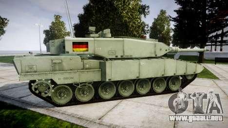Leopard 2A7 DE Green para GTA 4 left