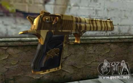 Desert Eagle Gold v2 para GTA San Andreas segunda pantalla