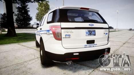Ford Explorer 2013 [ELS] Liberty County Sheriff para GTA 4 Vista posterior izquierda
