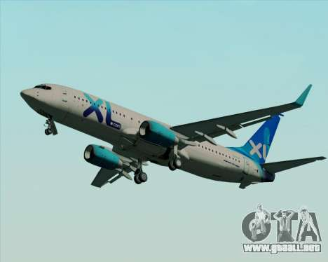 Boeing 737-800 XL Airways para visión interna GTA San Andreas