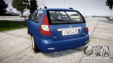 ВАЗ-2171 INSTALADO Antes de rims2 para GTA 4 Vista posterior izquierda