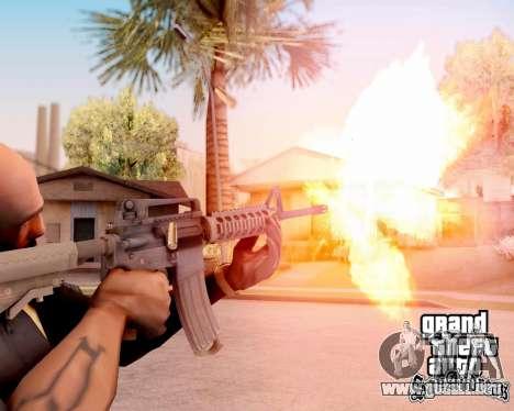 M4A1 BF4 para GTA San Andreas quinta pantalla