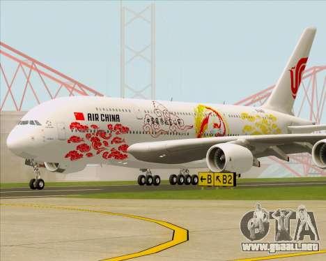 Airbus A380-800 Air China para GTA San Andreas left
