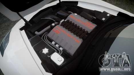 Chevrolet Corvette C7 Stingray 2014 v2.0 TireBFG para GTA 4 vista lateral