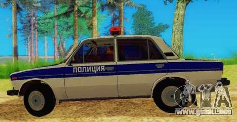 VAZ-2106 de la Policía para GTA San Andreas left