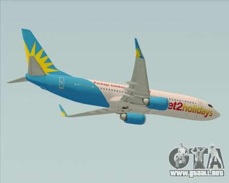 Boeing 737-800 Jet2Holidays para visión interna GTA San Andreas