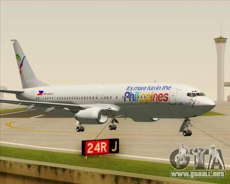 Boeing 737-800 South East Asian Airlines (SEAIR) para visión interna GTA San Andreas