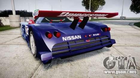 Nissan R390 GT1 1998 para GTA 4 Vista posterior izquierda