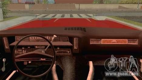 Chevrolet Impala Lowrider para GTA San Andreas vista posterior izquierda