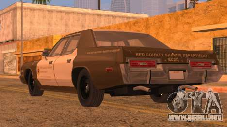 Dodge Monaco RCSD 1974 para GTA San Andreas left