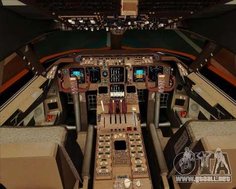 Boeing 747-100 Trans World Airlines (TWA) para GTA San Andreas interior