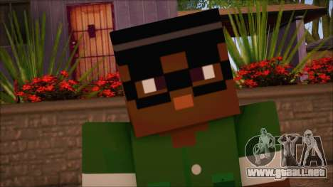 Bigsmoke Minecraft Skin para GTA San Andreas tercera pantalla