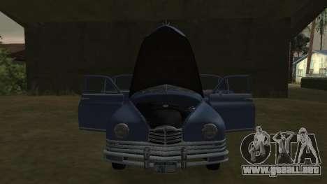 Packard Touring  Sedan para GTA San Andreas vista posterior izquierda