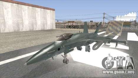 FA-18 Hornet Malaysia Air Force para GTA San Andreas