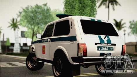 VAZ 2121 de la Policía para GTA San Andreas left