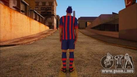 Neymar Skin para GTA San Andreas segunda pantalla