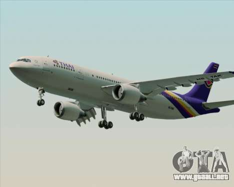 Airbus A300-600 Thai Airways International para visión interna GTA San Andreas
