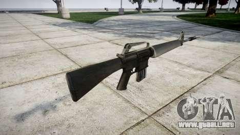 El fusil M16A1 para GTA 4 segundos de pantalla