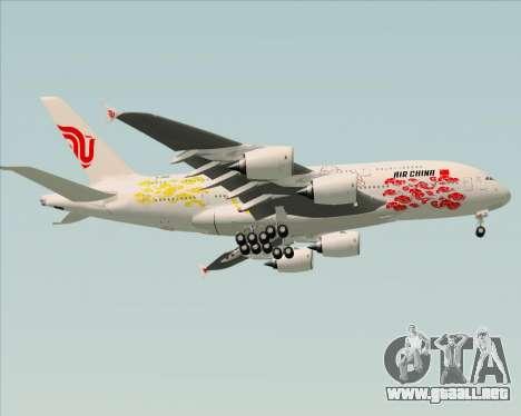 Airbus A380-800 Air China para GTA San Andreas vista hacia atrás