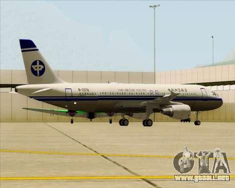 Airbus A320-200 CNAC-Zhejiang Airlines para las ruedas de GTA San Andreas
