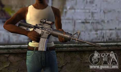 M4 Carbine ACOG para GTA San Andreas tercera pantalla